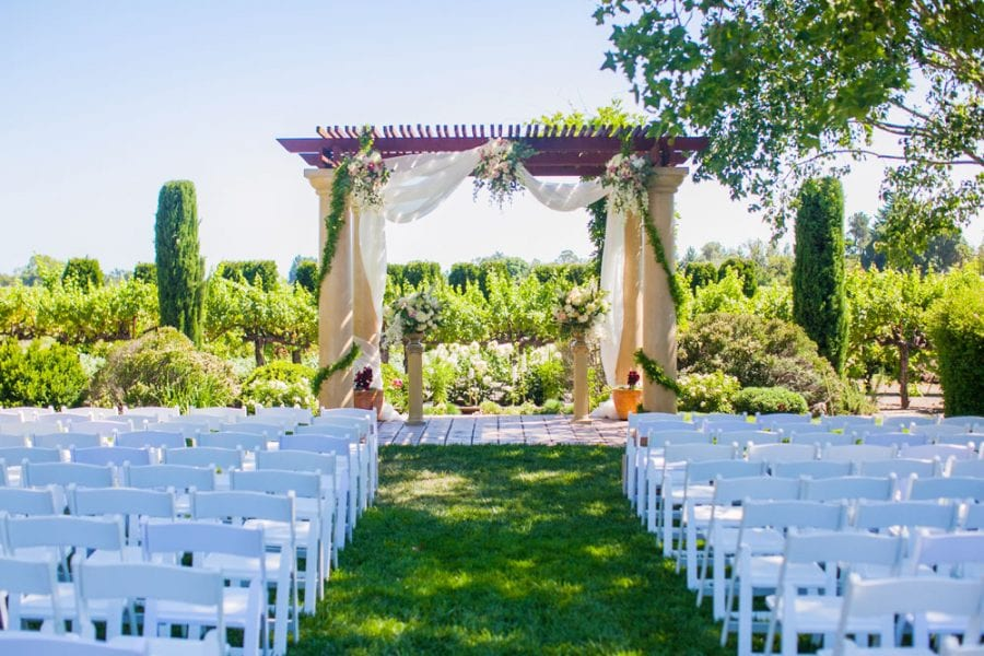 The Wedding Pavilion Is Located Next To Our Sauvignon Blanc Vineyards And Perfect Ceremony E Vineyard Views Extend For Over 200 Acres